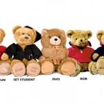 Geborduurde teddyberen als geschenk